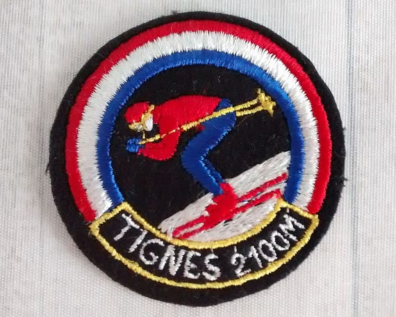 Used Sew On Tignes Ski Patch 2 5 Quot Skiing Skier Applique