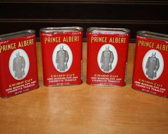 Prince Albert Tobacco Tins - set of 4 - item# 2848-7
