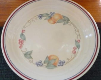 CHRISTMAS IN JULY 7 -  Corelle - Abundance - Luncheon  Plates - 8.5 Inches - Euc - Price Is For All - Raised Inner Band