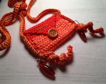 Mini pouch necklace bag