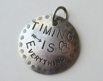 Margaret Sullivan Sterling Silver Timing is Everything Necklace Pendant