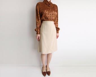 VINTAGE Skirt Giorgio Armani 1990s Pencil Skirt