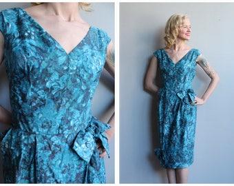 1950s Dress // Spring Sarong Dress // vintage 50s dress