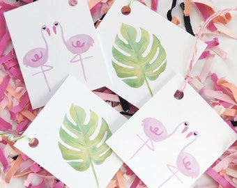 Flamingo Confetti. Flamingo Gift Tags. Let's Flamingle. Palm Springs Party. Tropical Party. Confetti. Flamingo Party. Palm Leaves