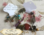 30•3.5L x 2W•CARLA•Hang Tags•Jewelry Cards•Earring Display•Necklace Tag•Hoop Earring Holder
