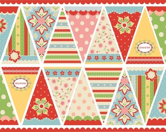 Delighted Banner Fabric Panel Riley Blake gender neutral
