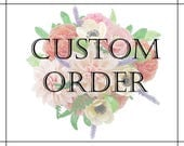 Custom order for Talia - custom wedding bouquet