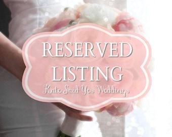 RESERVED Listing for karianne824 - Custom Wedding Package