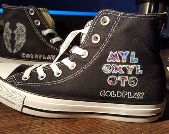 COLDPLAY custom hand painted sneakers  Highest quality detailed artwork  Myloxyloto Have yours like this or plan your own made