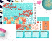April Monthly Layout Stickers - April Monthly View Stickers - April Monthly Planner Sticker Kit