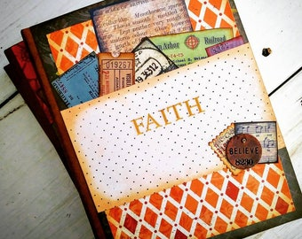 Faith Prayer Journal Keepsake Unlined Pages