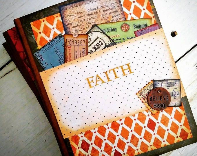 Featured listing image: Faith Prayer Journal Keepsake Unlined Pages
