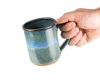 Hand thrown stoneware mug in Storm Glaze.  SOLD INDIVIDUALLY   Wheel thrown pottery mug   Coffee mug   tea Mug   unique coffee mug  
