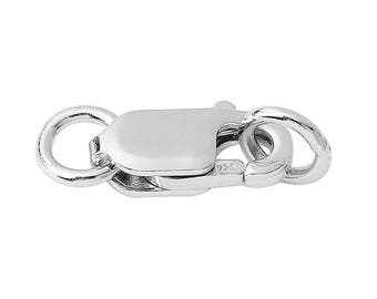 1 pc. 925 Sterling Silver Lobster Clasps - 13mm X 6mm with Jump Ring! - Claw Clasp