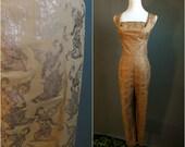 HOLD FOR JS  - Shaheen jumpsuit, 1950s jumpsuit, novelty print jumpsuit, deadstock jumpsuit, 1960s jumpsuit, Alfred Shaheen, medium size