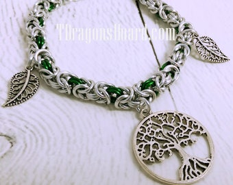 Tree of Life Byzantine Charm Bracelet - Ready to Ship!