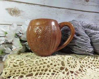 Milk Chocolate Brown cabled sweater mug