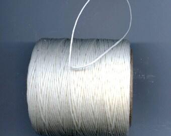 White Waxed Cord Thread 5 yards