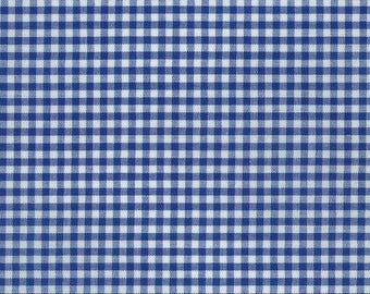 "Robert Kaufman - Carolina 1/8"" Gingham in Royal P-5689-1 royal blue white checkered - cotton fabric - choose your cut"