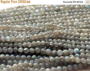 ON SALE 50% 5 Strands WHOLESALE Labradorite Beads, Labradorite Plain Round Balls, Blue Fire Gemstone 5-5.5mm Beads, 13 Inch Strand