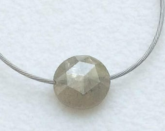ON SALE 55% 4.5mm Grey Rose Cut Diamond, Natural Loose Top Side Drilled Rough Diamond Rose Cut, Raw Diamond Faceted Cabochon - DS3560