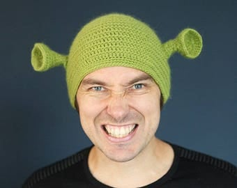 Adult man's size Shrek hat ( ready for shipping ).