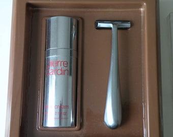 Pierre Cardin Shave Cream, razor