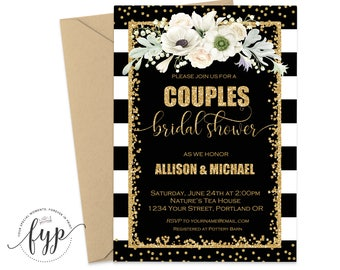 Couples Shower Invitation Printable Wedding Shower Invite