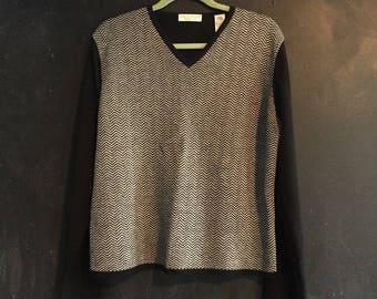 Vintage Lord & Taylor Herringbone Sweater