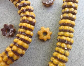 African Glass 'Flower' Beads
