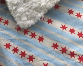 Gift for baba etsy chicago baby blanket city of chicago flag chicago baby gift faux fur blanket negle Images