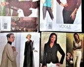 Lot of 4 Vogue Sewing Patterns Geoffrey Beene Ann Klein Vogue Wardrobe
