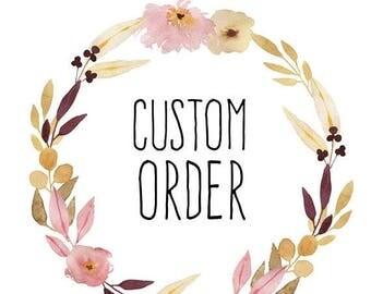 SUMMER SALE Custom Order for OpalLain