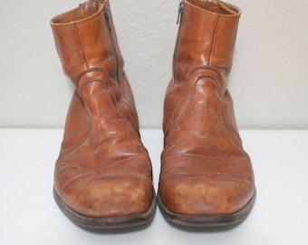mens boots, cognac/camel color, size 10.5