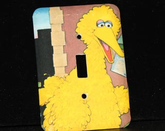 Sesame Street Big Bird Toggle Switch Plate Outlet Wallplate Light Cover