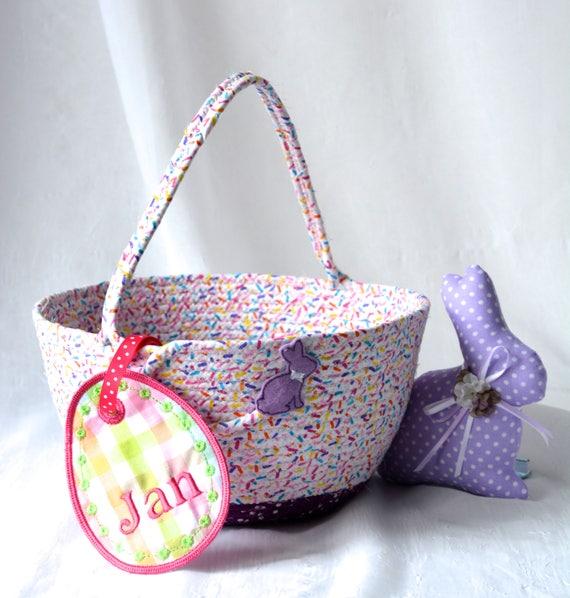 Lavender Easter Bucket, Purple Flower Girl Basket, Handmade Easter Basket, Purple Wedding Basket, Girl Grape Purple Easter Bucket