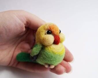 Needle felted lovebird