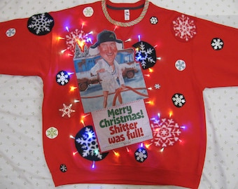 S10...light up Ugly Christmas Sweater SOUTH PARK sweater mens