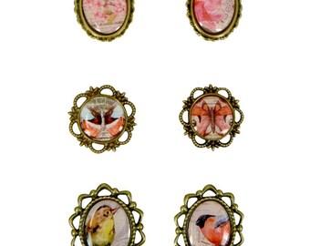 Framed Pendants Bezel Pendants Oval Pendants Nature Pendants Nature Charms Bird Pendants Butterfly Pendants Assorted Charms Bronze