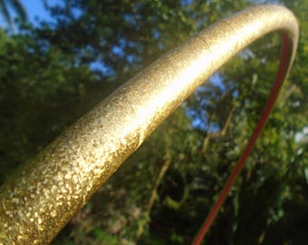 """5/8"""" Glittering Goddess Deco Taped Polypro Hula Hoop with Custom Diameter and Grip Options!"""
