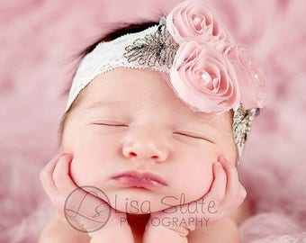 12% off Baby headband, newborn headband, adult headband, child headband and photography prop The Marissa sprinkle headband