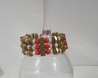 Urban Tribal Stretch Bracelet - Upcycled Hardware Jewelry