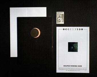Spinning Eclipse Letterpress Card