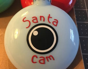 Santa Cam/Santa Ornament/Kids Fun Ornament/Santa Camera