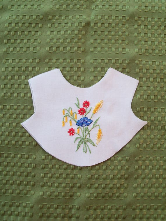 "18"" Size / Embroidered  Bodice Front Overlay / Lining Included / Sewing for 18"" American Girl Dolls"