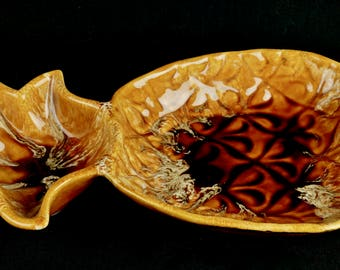Ceramic PINEAPPLE CHIP n DIP Server, Wade of California Pottery, circa early 1960's
