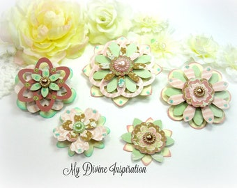 Authentique Imagine Paper Embellishments and Paper Flowers for Scrapbook Layouts Cards Mini Albums Planners Journals Tags and Paper Crafts