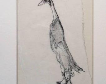 Duck Butler - Original Monoprint - OOAK