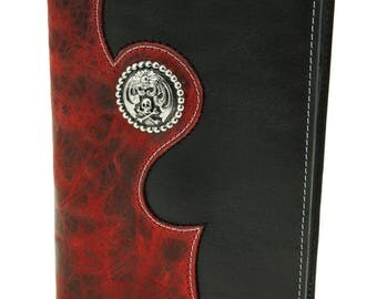 Leather Journal, Distressed Journal: Veritas Red Journal