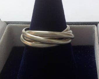 Sterling silver multi rolling ring five piece always changing
